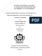 Thesis - Thermodynamic, Economic Analysis and Design of Heating System for the Swimming Pool Present at Nit Rourkela