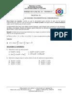 Taller 1 - Aplicación de Las Razones Trigonométricas Fundamentales - 2p