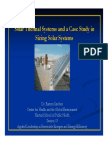 Solar Thermal and Applied Solar Systems Sizing Case Study