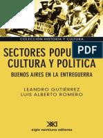 Sectores Populares Cultura y Politica
