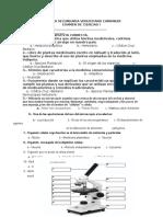 Examen de Ciencias I (Bloque I) LA CELULA