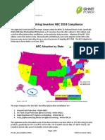 CPS 3Phs Inverter NEC 2014 Code Compliance Rev062016
