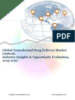 Global Transdermal Drug Delivery Market (2015-2021)- Research Nester
