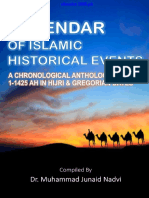 Book Calendar of Islamic Historical Event