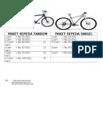 Paket Sepeda Tandem