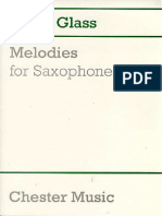 Melodies for Saxophone-philip Glass