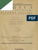 Arhiva Pentru Stiinta Si Reforma Sociala 09, Nr 1-3, 1930 (Federatia Europeana )