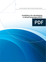 Guidelines for Developing a School Language Policy