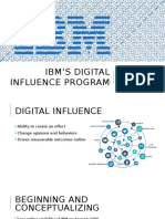 IBM's Digital Influence Program