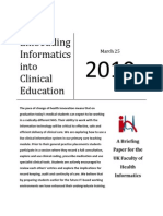 Embedding Informatics into Clinical Education