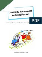 disability awareness packet