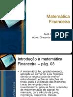 Aula 01 de 10 - Matemática Financeira (03-03-10)