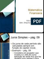 Aula 04 de 10 - Matemática Financeira (08-03-10)