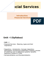 Introduction to Financial Services