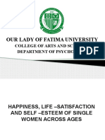 Happiness, Life –Satisfaction and Self –Esteem of Single Women Across Ages