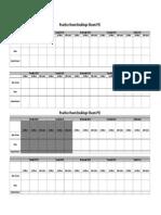 Prac Room Booking template