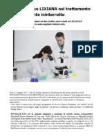 Nuovi Studi Su LIXIANA Nel Trattamento Anticoagulante Ininterrotto