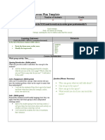 lesson plan template  zoom rocket zoom