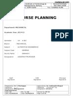 Course Plan (Ae) Me Viii