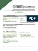 lesson plan template  pattern