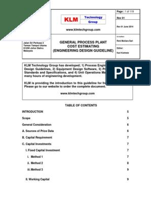 ENGINEERING_DESIGN_GUILDLINE_General_Plant_Cost_Estimating_Rev01web