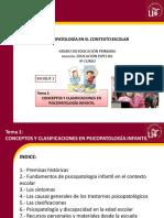 Tema 1. Conceptos y Clasificaciones en Psicopatología Infantil