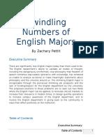 Dwindling Numbers of English Majors