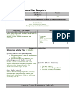 lesson plan template  shapes