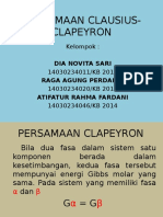 PERSAMAAN CLAUSIUS-CLAPEYRON