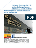 Reform of Exchange Controls – Part III  Proposed Foreign Exchange Act, an improvement on many counts, but not free from ghostly features contained in the present one.docx