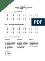 Answer Key Module 2 Financial Statement Analysis 1