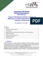 Master in Mediazione - 10a Edizione - Accreditato A.I.Me.F - 2017/2019 - PROGRAMMA COMPLETO - Associazione Me.Dia.Re