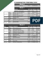 CIE Examination Timetable 2014