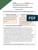 PRIMEROS AUXILIOS PSICOLÓGICOS EN ACCIDENTE DE TRAFICO