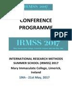 IRMSS 2017 Programme