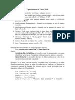 Tipos de Datos en Visual Basic