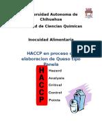 Haccp en Proceso de Elaboracion de Queso Tipo Panela