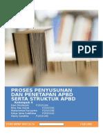Proses Penyusunan Dan Penetapan Apbd Serta Struktur Apbd