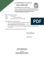 Surat Pertanggung Jawaban