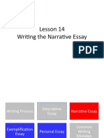Lesson 14 Writing the Narrative Essay