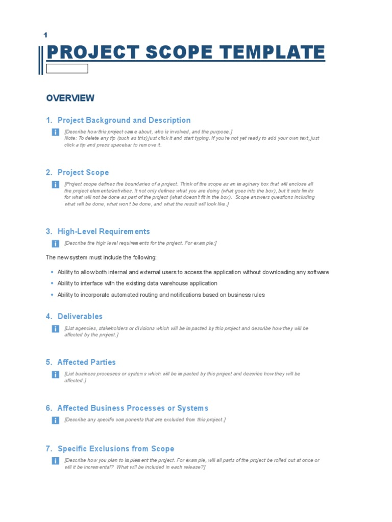 Project scope template business process application software cheaphphosting Choice Image