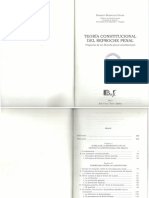 Teoría Constitucional Del Reproche Penal Gilberto Rodriguez