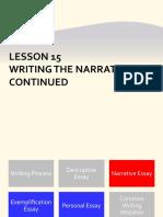 Lesson 15 Narrative Continues