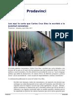 Lea Aqui La Carta Que Carlos Cruz Diez Le Escribio a La Juventud Venezolana