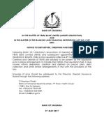 Notice to Depositors