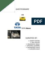 Tata Nano Questionnaire