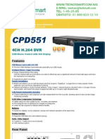 DVR 4 CANALES CPCAM CPD551