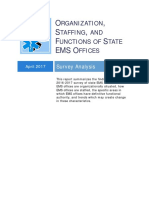 Organization, Staffing, and Functions of State EMS Offices
