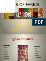 Types of Farics - Lakshay