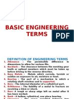 Basic Engineering Terms
